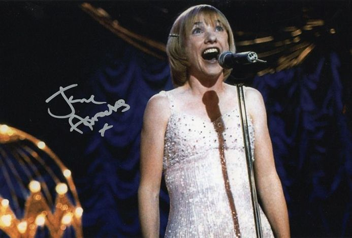 Jane Horrocks, LV in Little Voice, signed 12x8 inch photo.